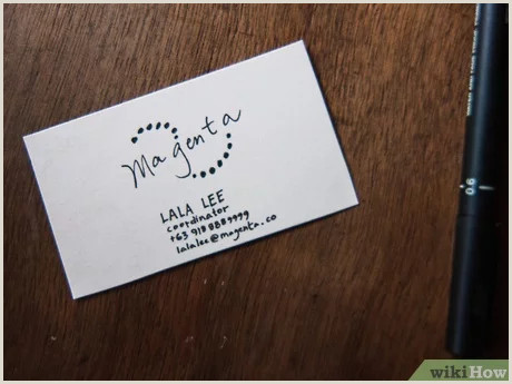 Business Cards Example 3 Ways To Make A Business Card Wikihow