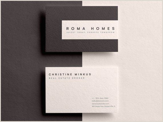 Business Cards From Real Estate Business Card Business Card Template Real