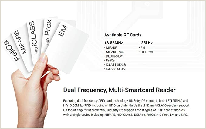 Business Cards Multiple Images Suprema Bioentry P2 Pact Ip Fingerprint Biometric Access Control Device Bep2 Od & Brief English Manual