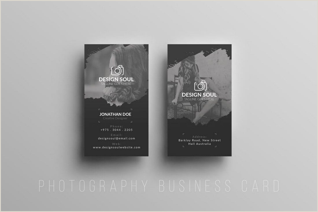Business Cards Photography Ideas Graphy Business Cards 20 Templates & Ideas