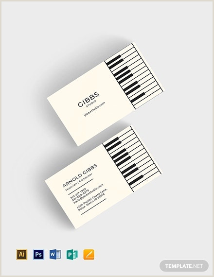 Business Cards That Play Music 26 Music Business Card Templates Psd Ai Word