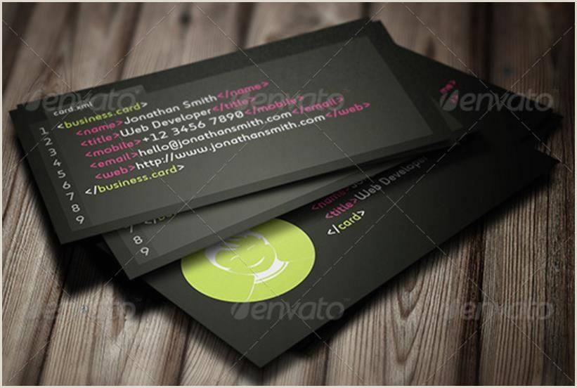 Business Cards Unique Designs Creative Web Developer Business Card Templates – Psd