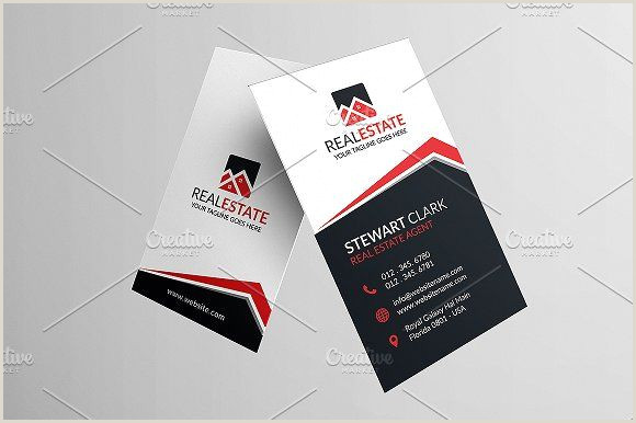 Business Cards Unique Format Classic Real Estate Business Card