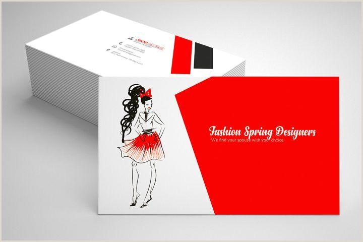Business Cards Unique Format Fashion Designer Business Card