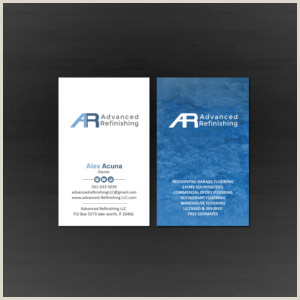Business Cards Unique Renovation Construction Jeremy Golob Epoxy Flooring Contractor Business Card