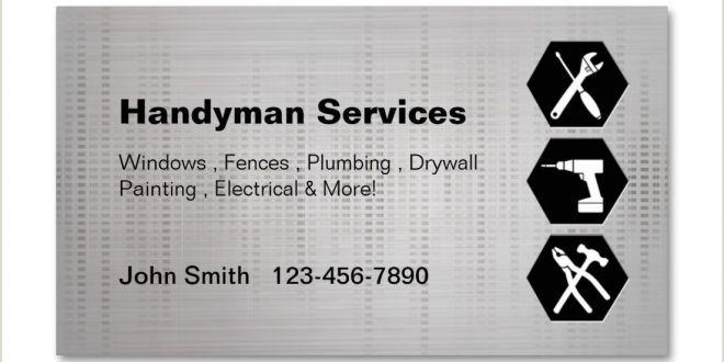 Business Cards Unique Renovation Construction Jeremy Golob Handyman Construction Remodeling Business Cards