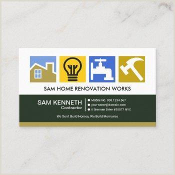 Business Cards Unique Renovation Construction Jermy Golob Renovation Business Cards