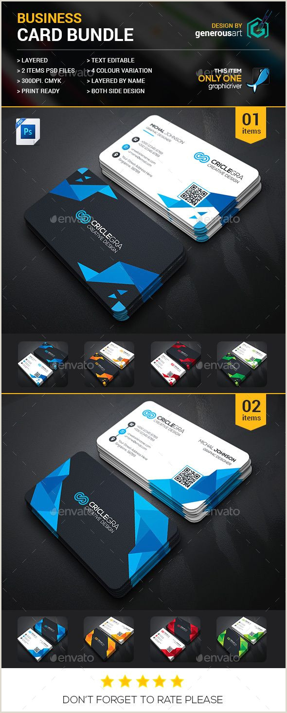Business Cards With 2 Names Business Card Bundle 2 In 1