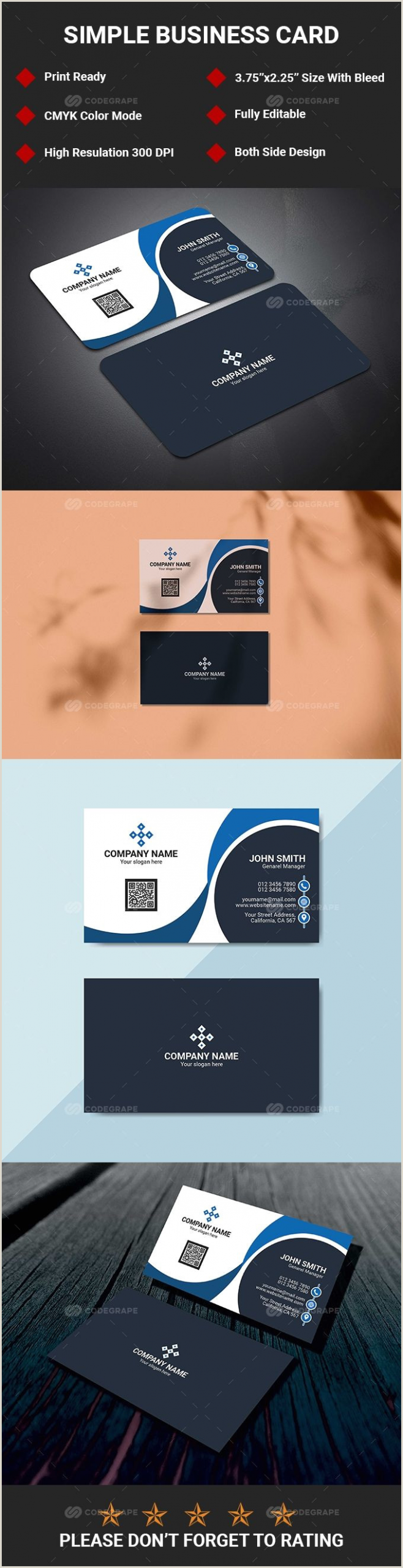 Business Cards With 2 Names Clean Business Card