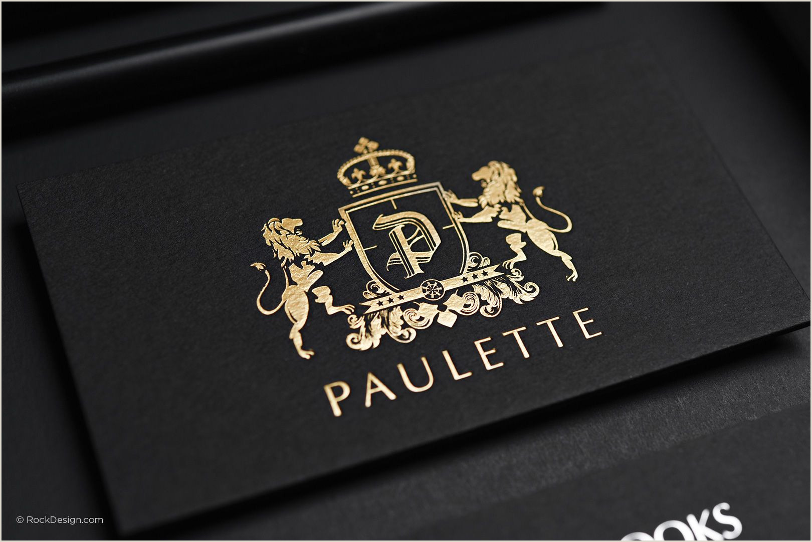 Business Cards With Gold Lettering Black Business Card Matte Gold Stamping Elegant Classy