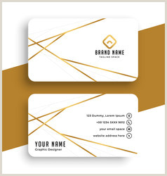 Business Cards With Gold Lettering Gold Business Card Vector Over 82 000