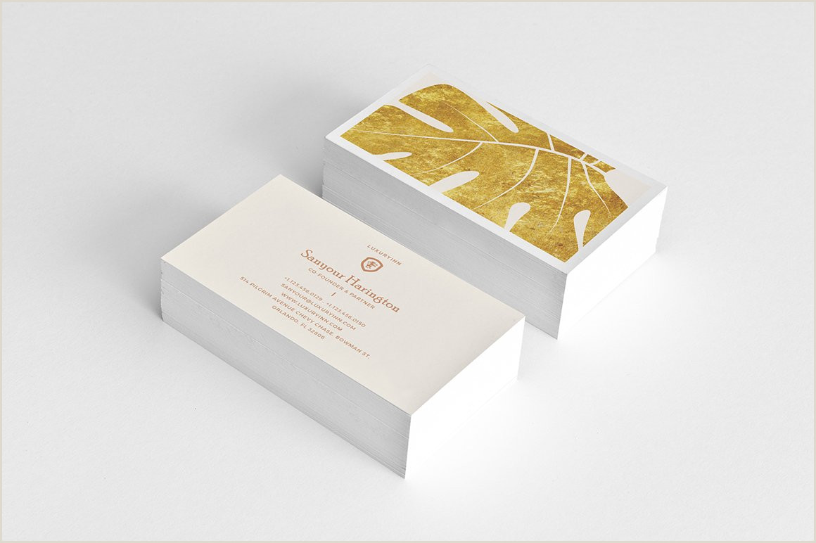 Business Cards With Gold Lettering Stylish Gold Minimal Business Card