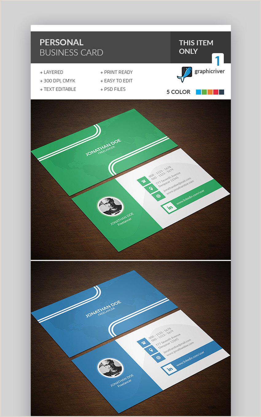 Business Cards With Personal Photo 25 Best Personal Business Cards Designed For Better