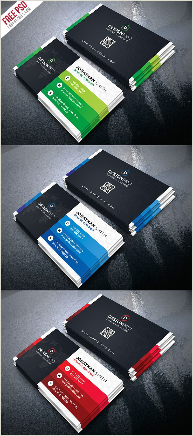 Business Cards With Personal Photo Creative And Modern Business Card Psd Bundle