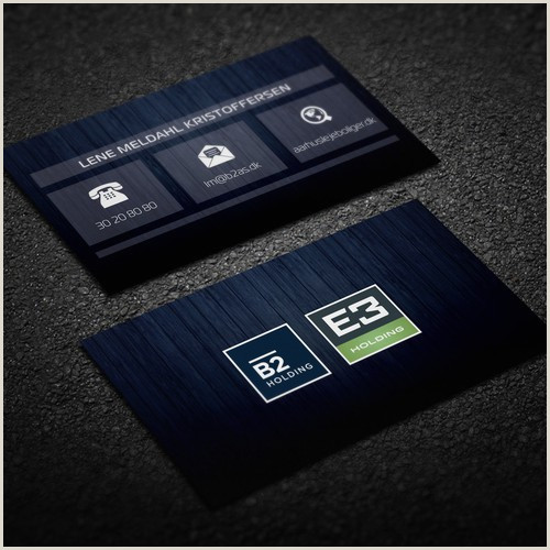 Business Cards With Two Names Business Card For B2 Holding E3 Holding Both 2 Logos At The