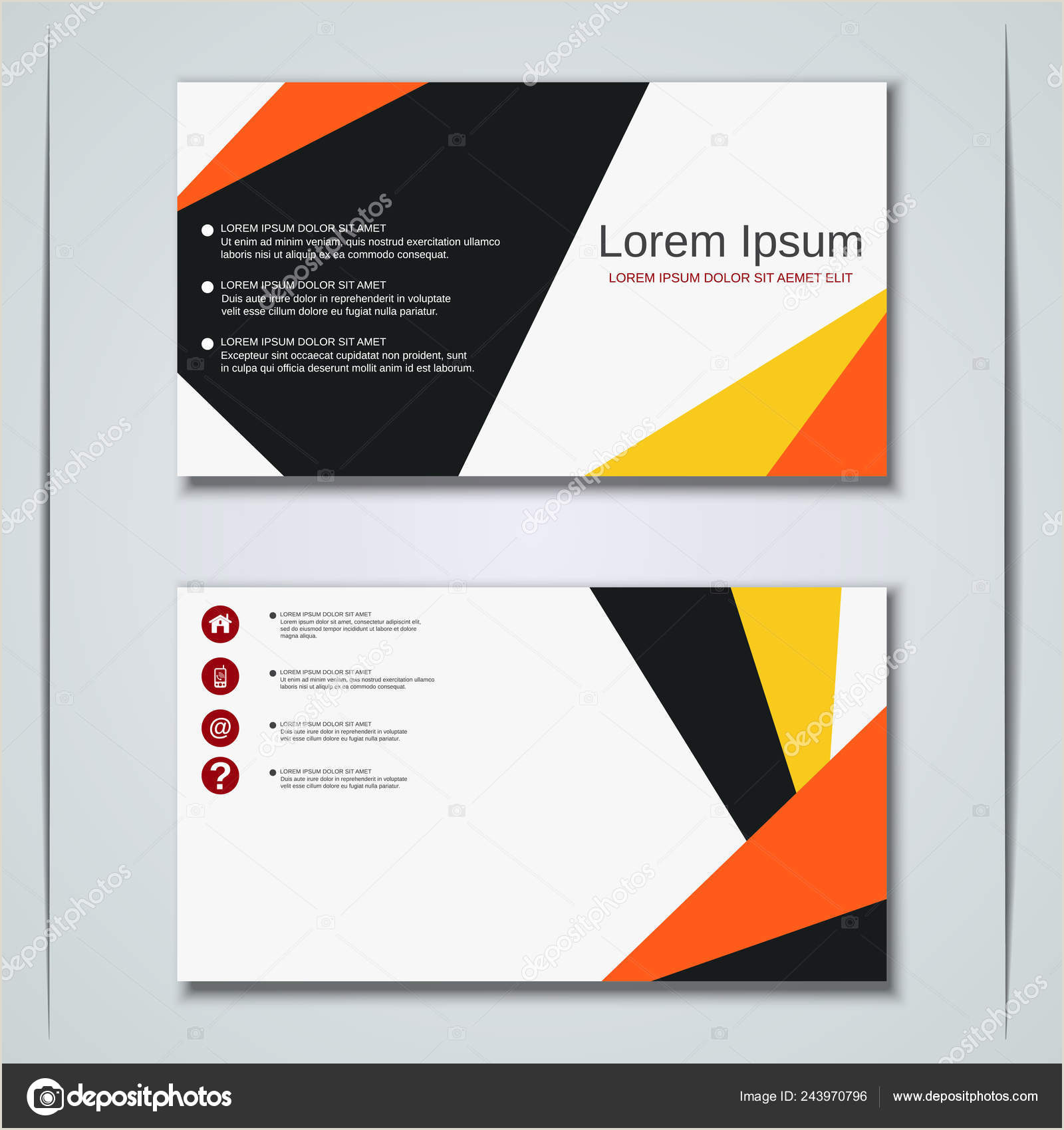 Business Cards' Business Visiting Card Vector Design Template