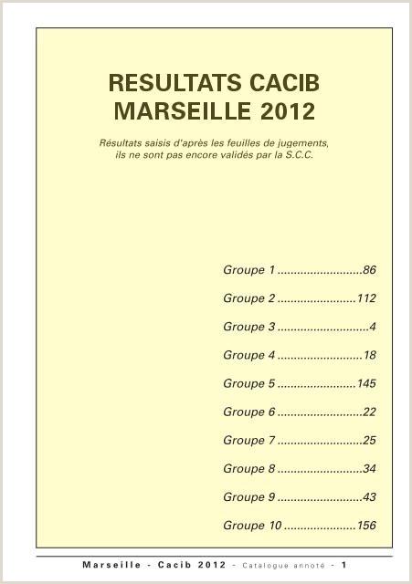 Business Cards' Marseille Cacib 2012 Cynoprint