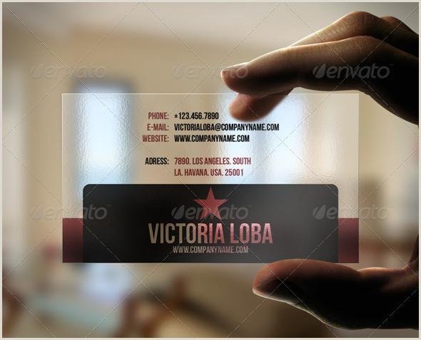 Business Cards' Modern Transparent Business Card