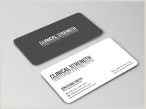 Business Cards' Professional Upmarket Personal Trainer Business Card