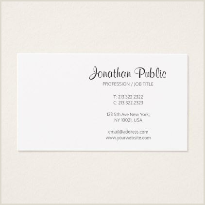 Business Development Titles For Business Cards Trendy Modern Sleek Stylish Plain Professional Business Card