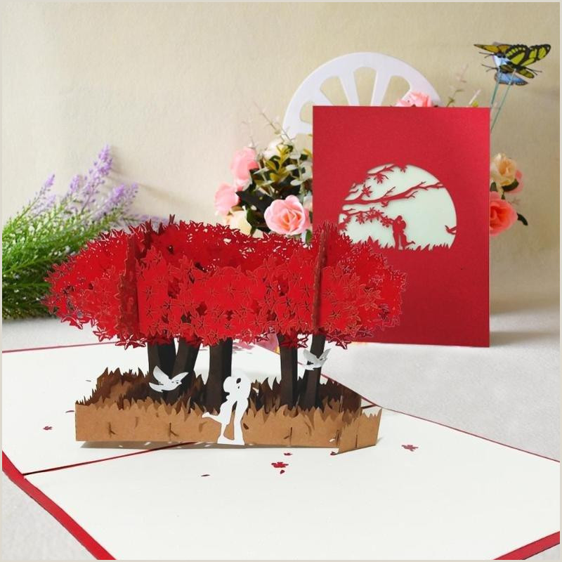 Businss Cards 3d Sweet Lovers Valentines Day Card Wedding Invitation Bridal Shower Anniversary Gift Up Cards For Love Married Z0hu Cute Greeting Cards Designer