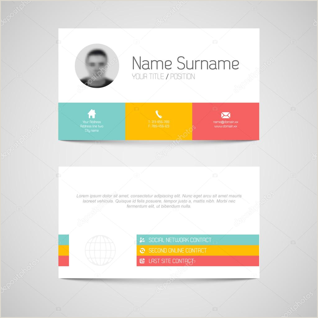 Call Card Designs ᐈ Calling Card Sample Design Stock Images Royalty Free