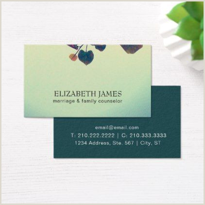 Calling Card Example Mental Health Therapist Business Cards