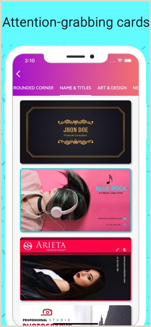 Calling Card Examples Business Card Maker Creator On The App Store