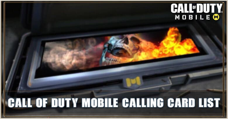 Calling Card Examples Call Of Duty Mobile All Available Calling Card Zilliongamer