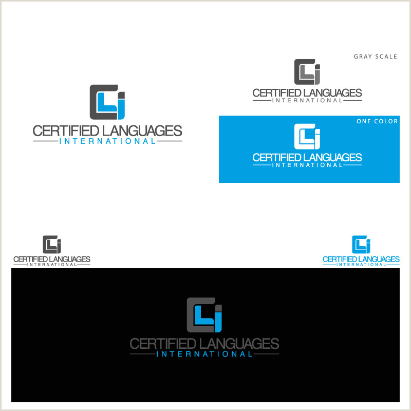 Catchy Business Cards International Language Pany Needs New Look A Logo