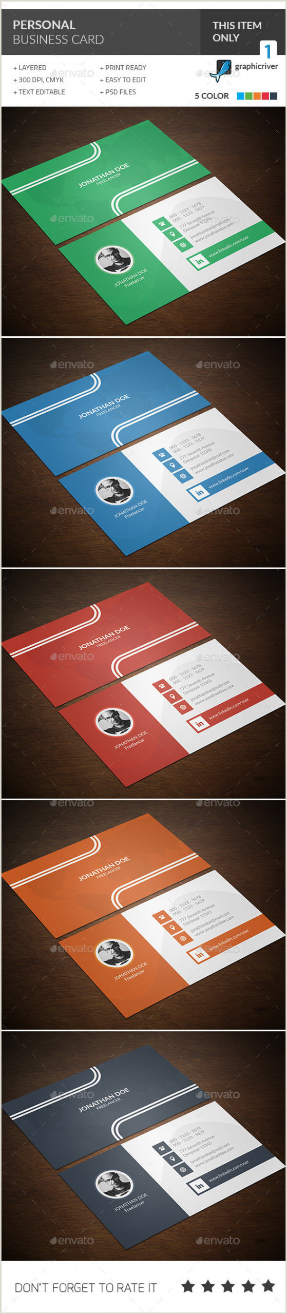 Cheap Personalized Business Cards Personal Business Card Templates & Designs From Graphicriver