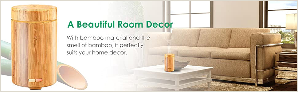 Check Designer Home And Business Urpower Real Bamboo Essential Oil Diffuser Ultrasonic Aromotherapy Diffusers Cool Mist Aroma Diffuser With Adjustable Mist Modes Waterless Auto