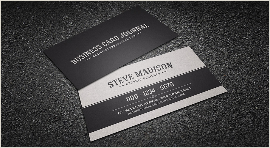 Classic Business Card Free Retro & Vintage Business Card Templates