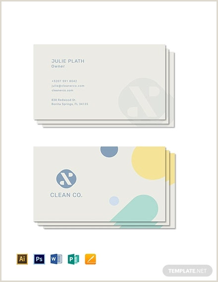 Cleaning Business Cards Templates Free 9 Cleaning Business Card Templates Pages Word Psd Ai