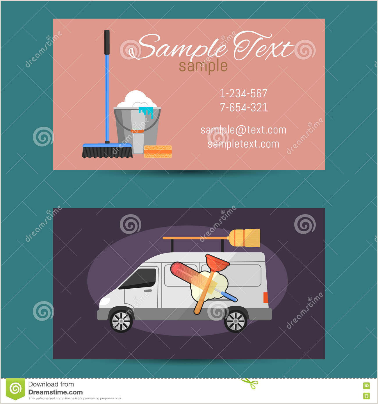 Cleaning Business Cards Templates Free Business Card Cleaning Service Stock Vector