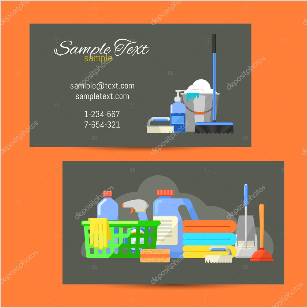 Cleaning Quotes For Business Cards Business Card Of Cleaning Service