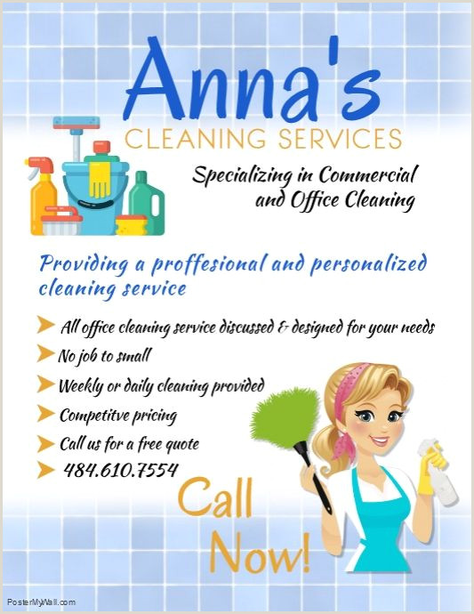 Cleaning Quotes For Business Cards Create Amazing Flyers For Your Cleaning Business By