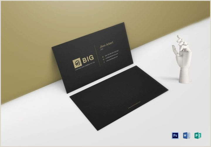 Co Owner Business Card 16 Ceo Business Card Templates Ms Word Ai Psd