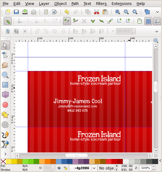 Colored Perforated Business Card Stock Business Card Tutorial In Inkscapeorg