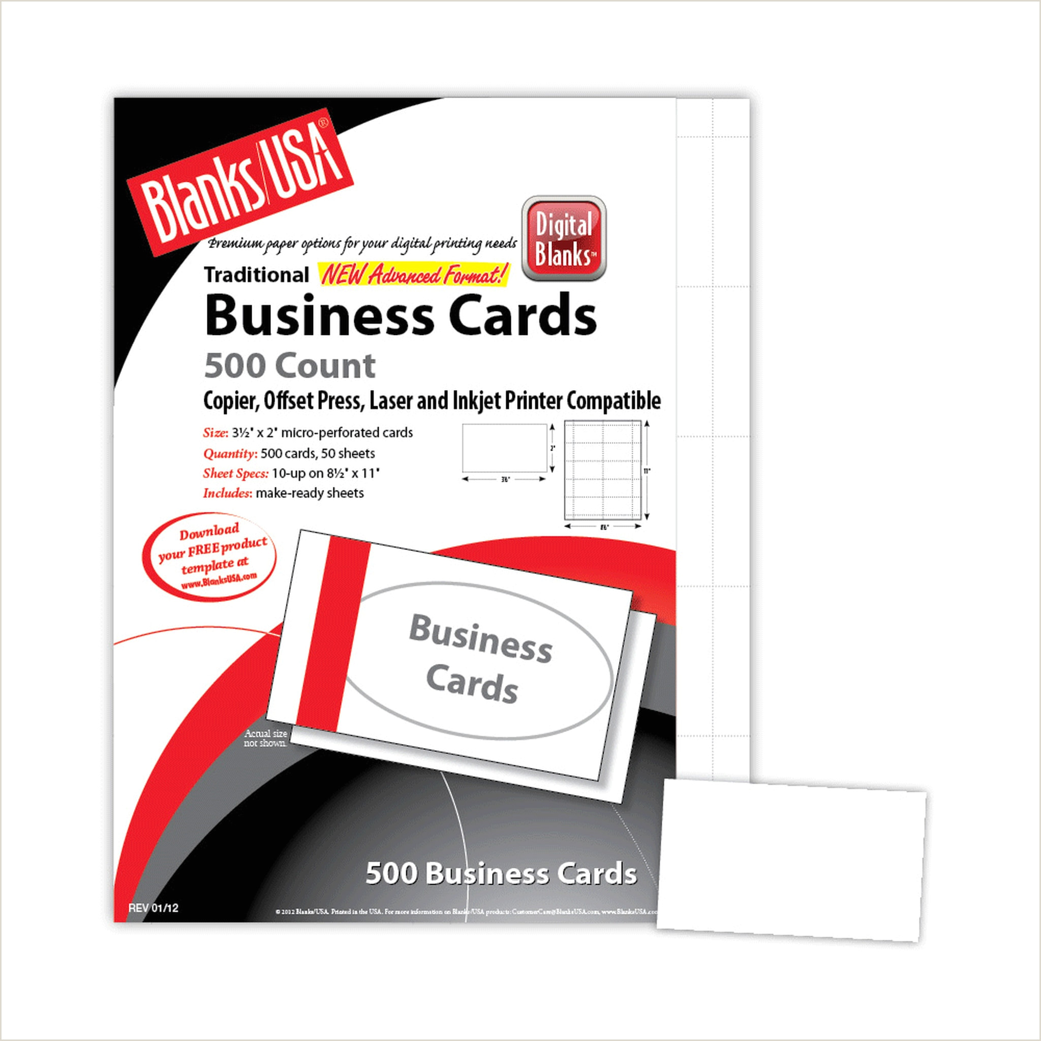Colored Perforated Business Card Stock Micro Perforated Business Card