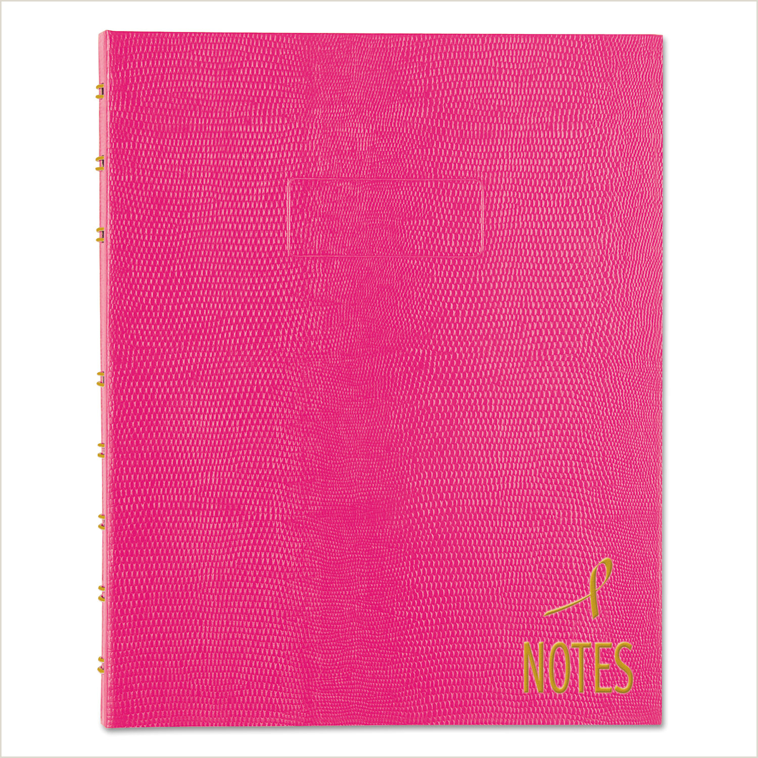 Colored Perforated Business Card Stock Notepro Notebook 1 Subject Narrow Rule Bright Pink Cover 9 25 X 7 25 75 Sheets