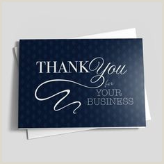 Company Message Ideas For Business Cards 60 Business Thank You Cards Ideas