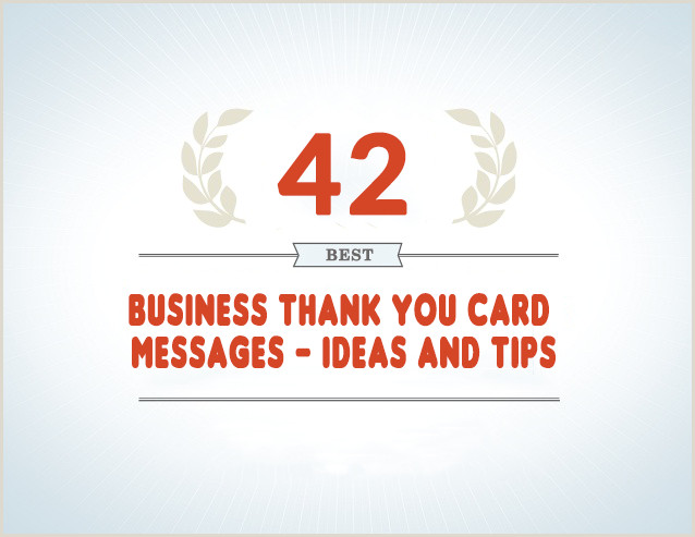 Company Message On Business Card 42 Best Business Thank You Card Messages Samples Tips And