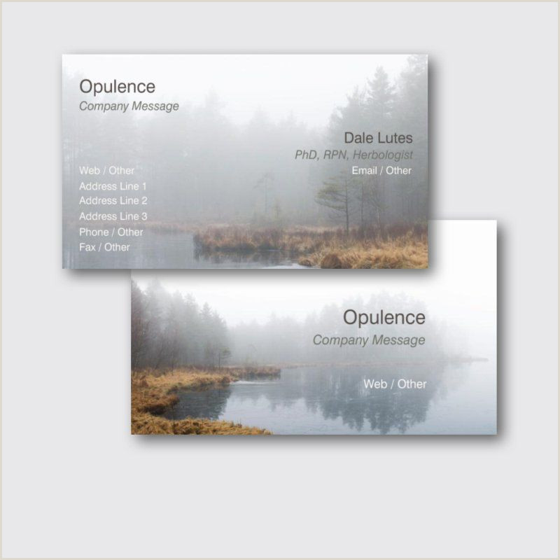 Company Message On Business Card Standard Business Cards Templates & Designs