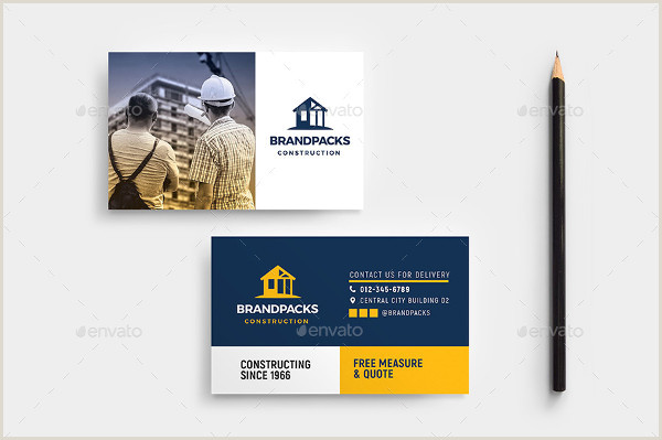 Construction Images For Business Cards 25 Construction Business Card Printable Psd Eps Downloads