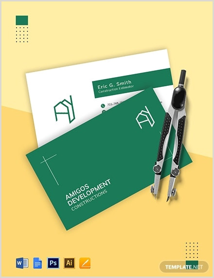 Construction Images For Business Cards 35 Free Construction Business Template Ms Word Coreldraw
