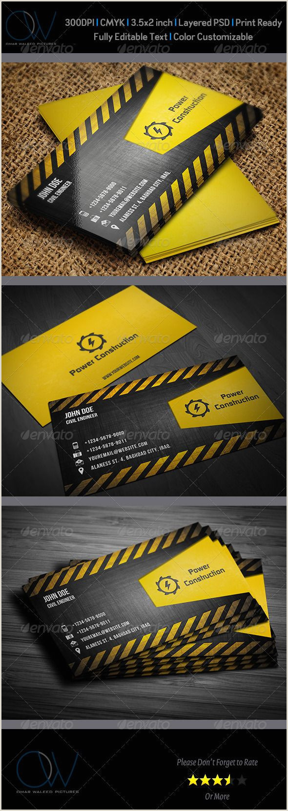 Construction Images For Business Cards Construction Business Card