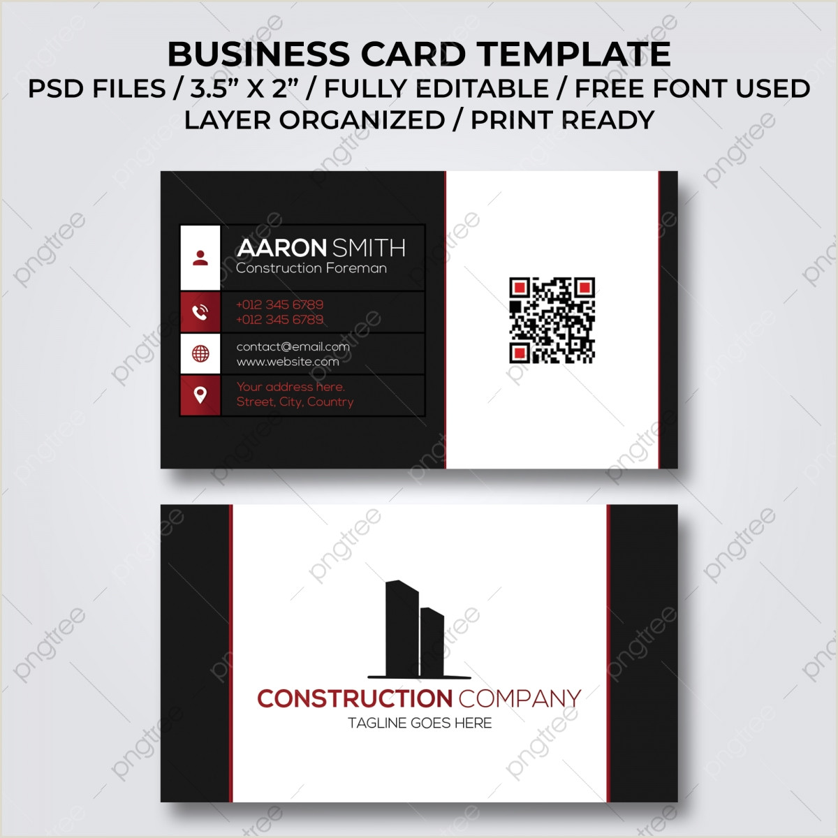 Construction Images For Business Cards Construction Business Card Png