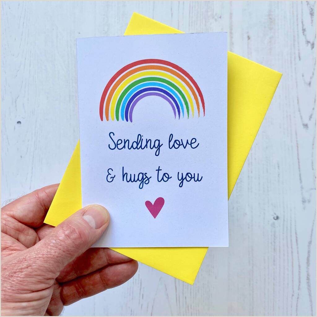 Construction Images For Business Cards Sending Love And Hugs Rainbow Card