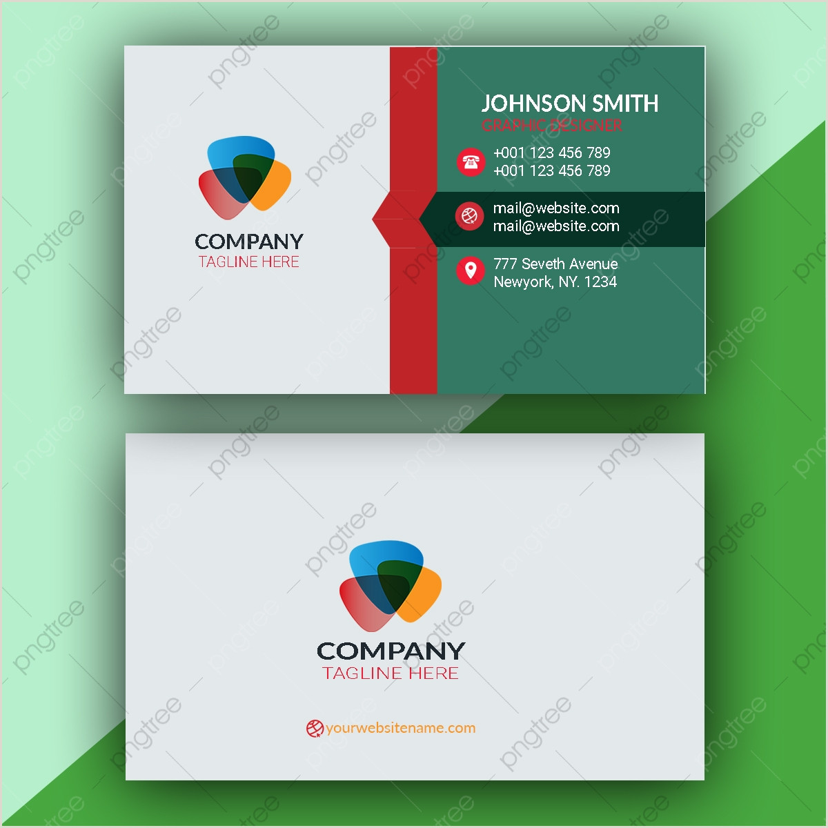 Contact Cards Template Contact Cards Png Vector And Psd Files